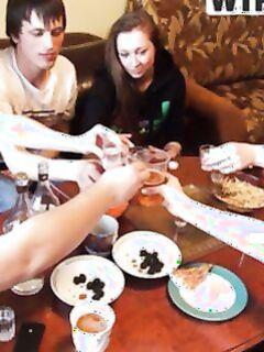 Пьяная оргия русских студентов