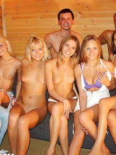 Групповое порно фото с русскими пьяными блядями