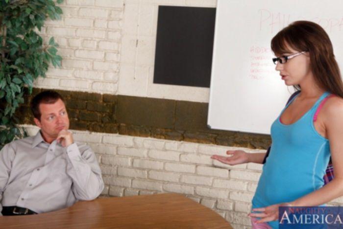 Директор школы трахает красивую студентку