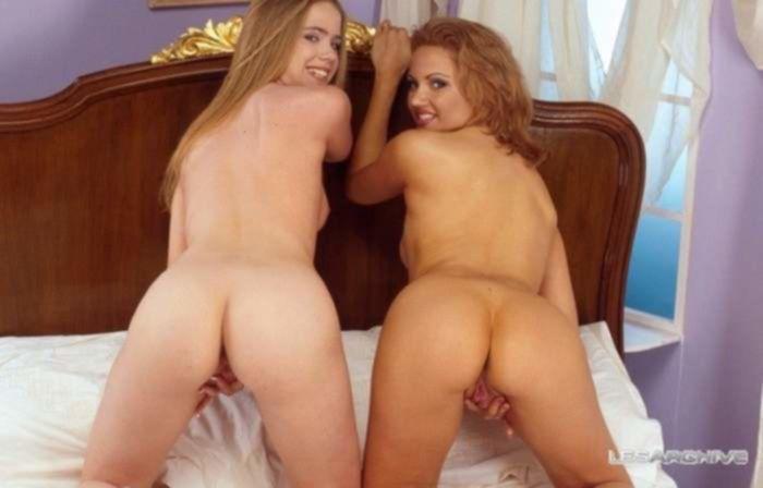 Гламурные лесбиянки страстно потрахались в теплой спальне